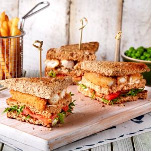 Gluten Free Fish Club Sandwich