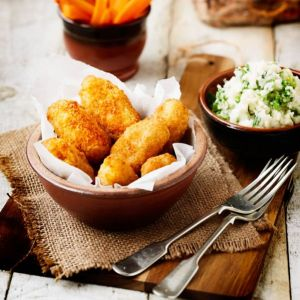 Jumbo Scampi with Colcannon Mash